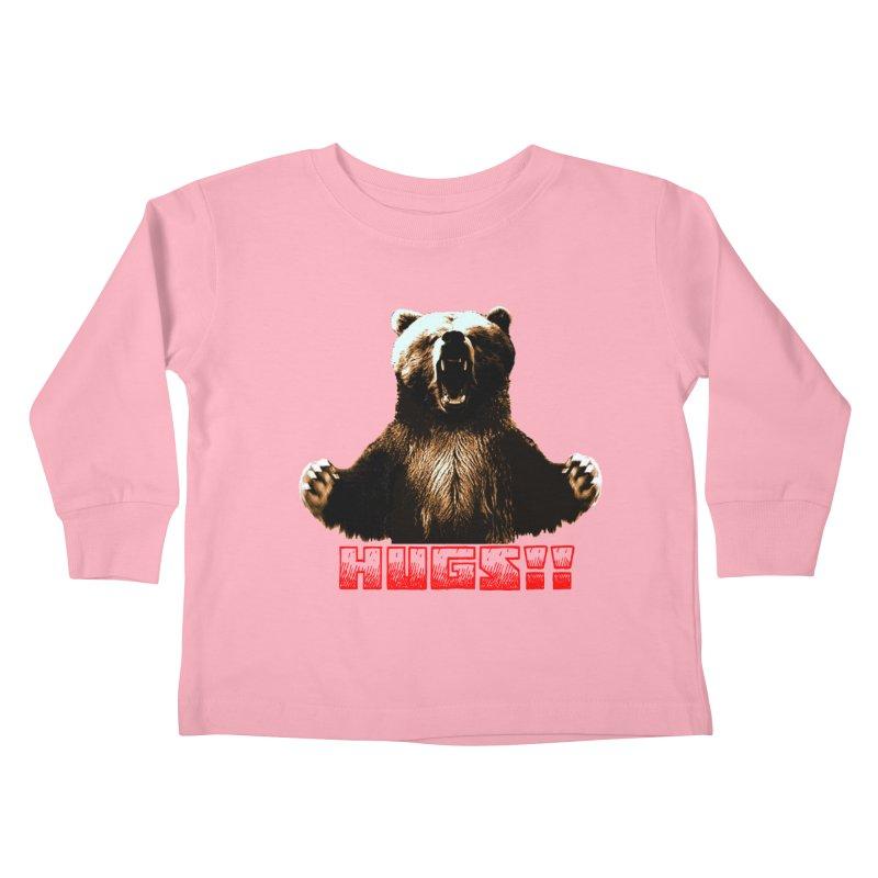 HUGS!!  Kids Toddler Longsleeve T-Shirt by truthpup's Artist Shop