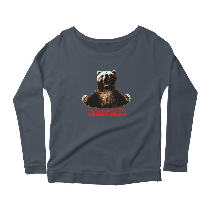 HUGS!!  Women's Scoop Neck Longsleeve T-Shirt by truthpup's Artist Shop