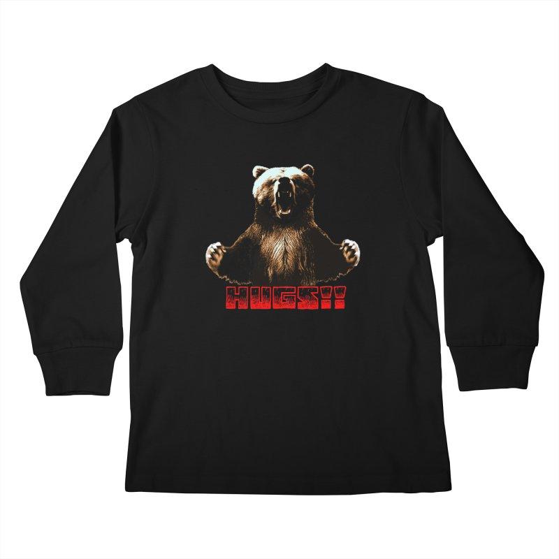 HUGS!!  Kids Longsleeve T-Shirt by truthpup's Artist Shop