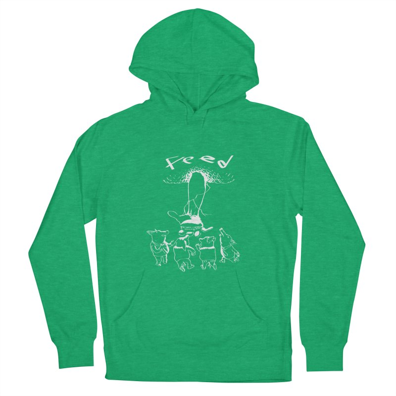FEED Women's French Terry Pullover Hoody by truthpup's Artist Shop