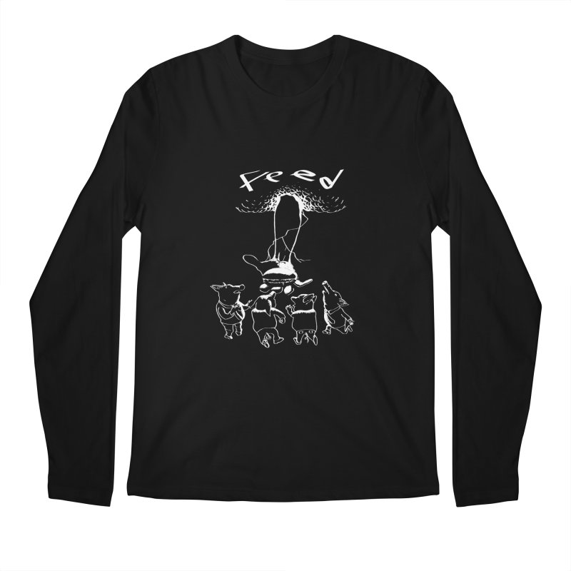 FEED Men's Regular Longsleeve T-Shirt by truthpup's Artist Shop