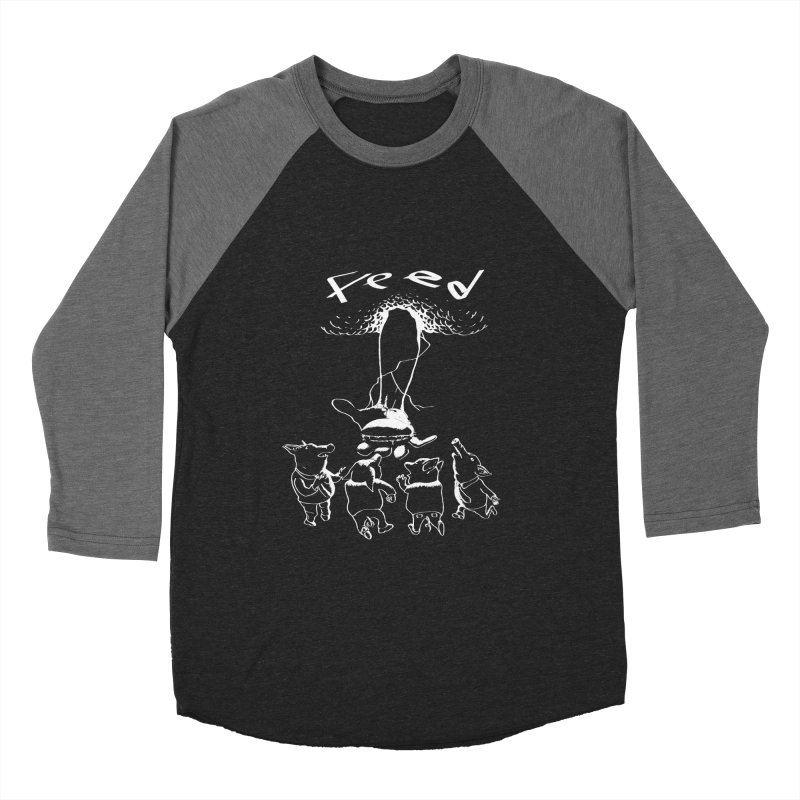 FEED Women's Baseball Triblend Longsleeve T-Shirt by truthpup's Artist Shop