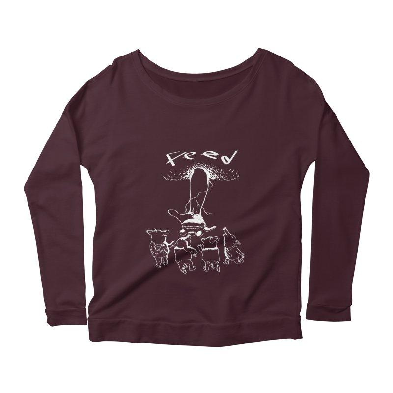 FEED Women's Scoop Neck Longsleeve T-Shirt by truthpup's Artist Shop