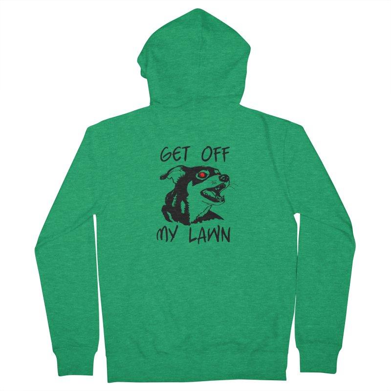 Get Off My Lawn! Men's Zip-Up Hoody by truthpup's Artist Shop