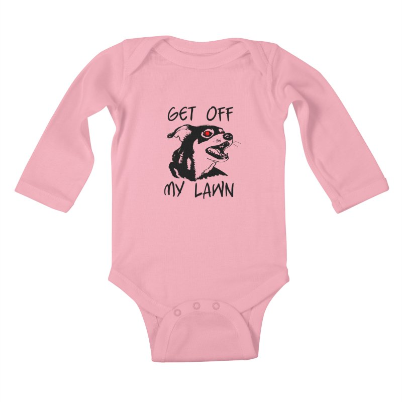Get Off My Lawn! Kids Baby Longsleeve Bodysuit by truthpup's Artist Shop