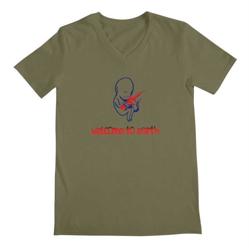 Welcome to Earth Men's V-Neck by truthpup's Artist Shop