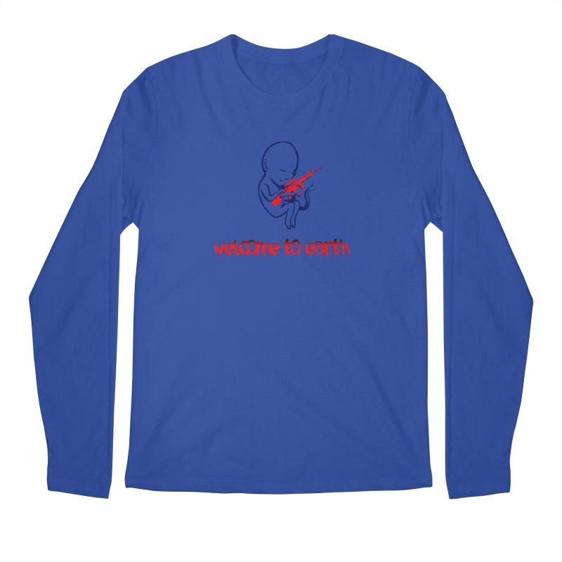 Welcome to Earth Men's Regular Longsleeve T-Shirt by truthpup's Artist Shop