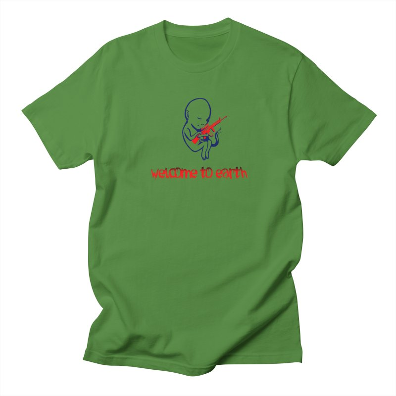 Welcome to Earth Men's Regular T-Shirt by truthpup's Artist Shop