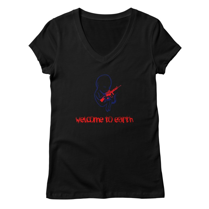 Welcome to Earth Women's V-Neck by truthpup's Artist Shop