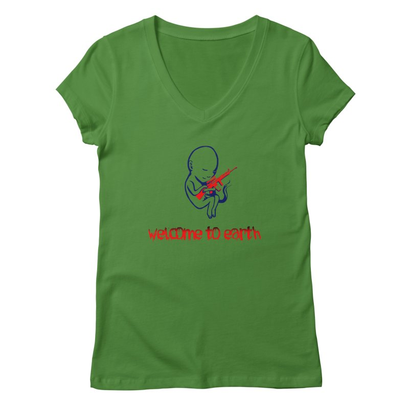 Welcome to Earth Women's Regular V-Neck by truthpup's Artist Shop