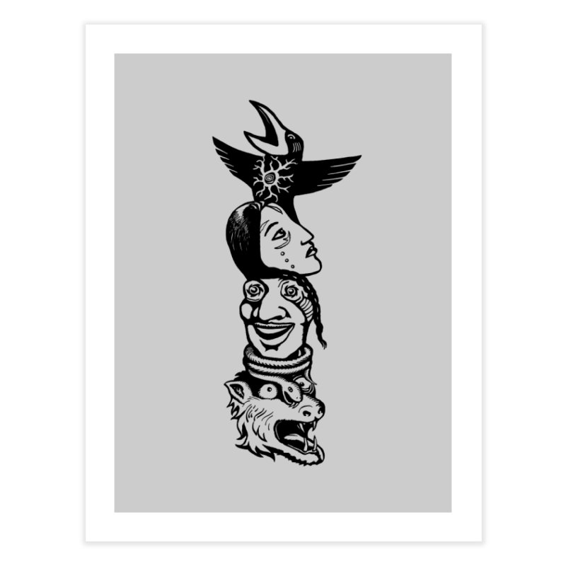 Obvio Totem  Home Fine Art Print by truthpup's Artist Shop