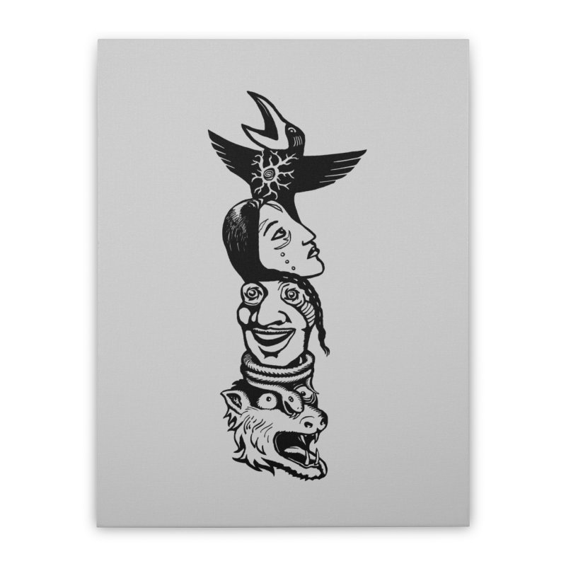 Obvio Totem  Home Stretched Canvas by truthpup's Artist Shop