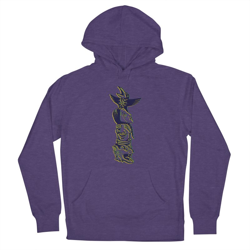 Obvio Totem  Women's French Terry Pullover Hoody by truthpup's Artist Shop