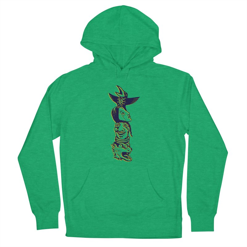 Obvio Totem  Men's French Terry Pullover Hoody by truthpup's Artist Shop