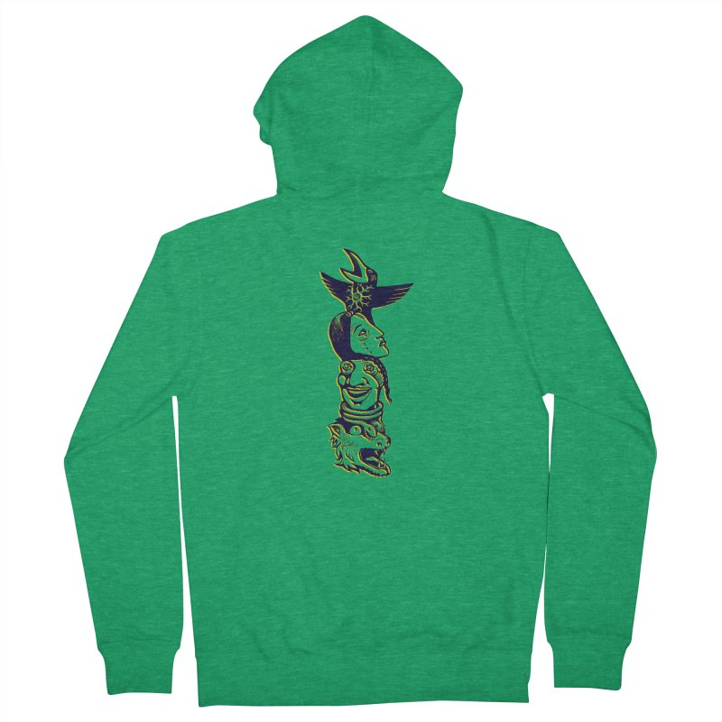 Obvio Totem  Men's French Terry Zip-Up Hoody by truthpup's Artist Shop