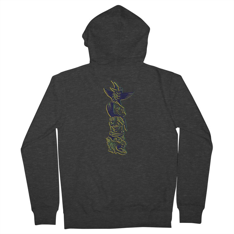 Totem 1 Men's French Terry Zip-Up Hoody by truthpup's Artist Shop