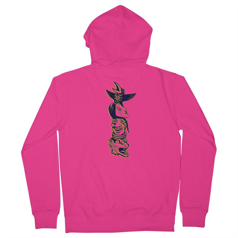 Obvio Totem  Men's Zip-Up Hoody by truthpup's Artist Shop