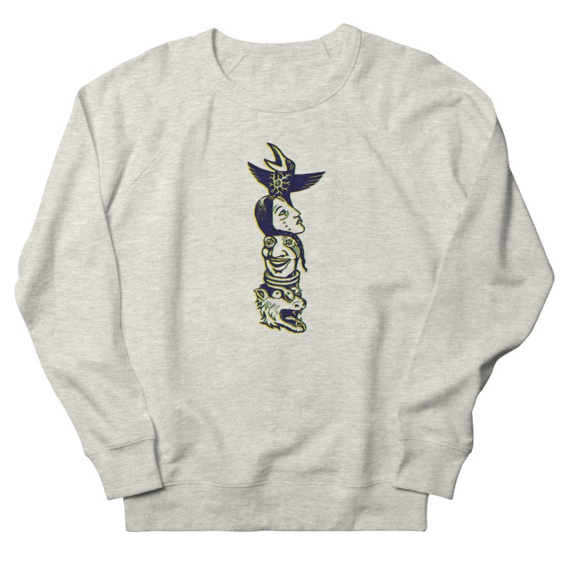 Obvio Totem  Women's French Terry Sweatshirt by truthpup's Artist Shop