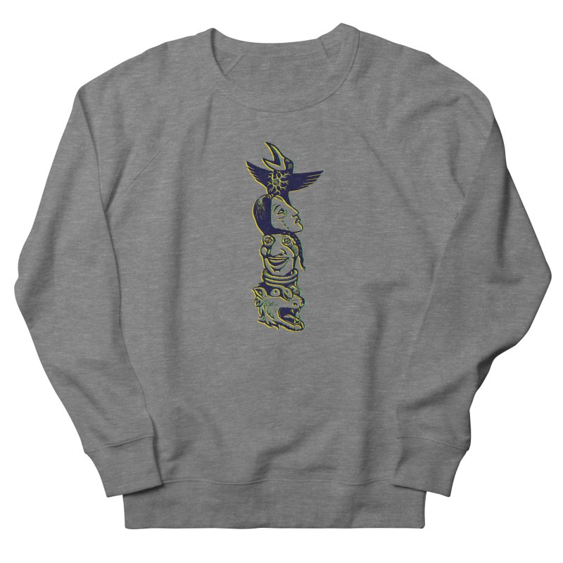 Totem 1 Men's French Terry Sweatshirt by truthpup's Artist Shop