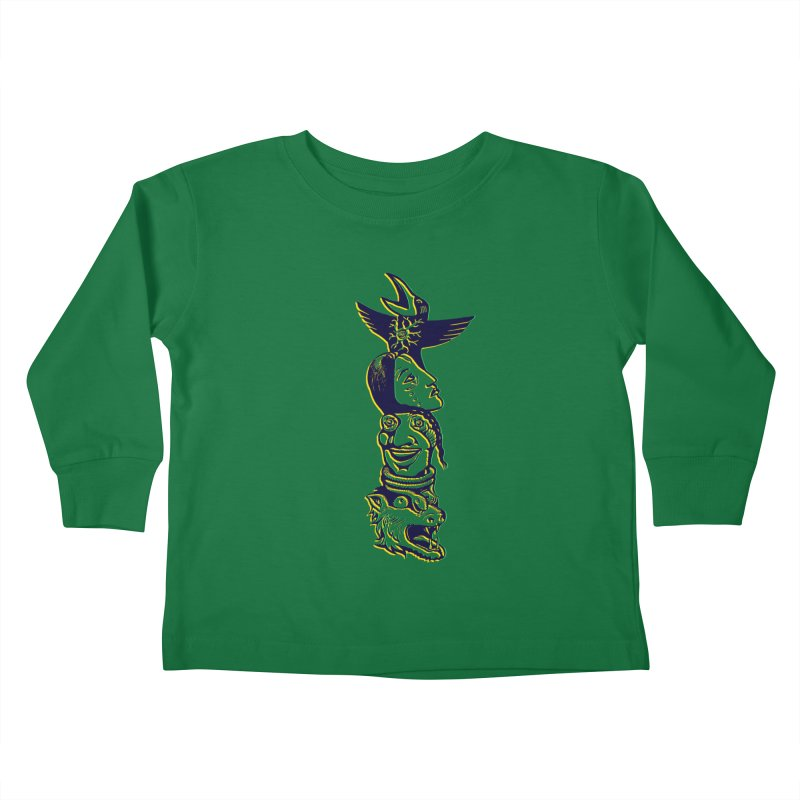 Obvio Totem  Kids Toddler Longsleeve T-Shirt by truthpup's Artist Shop