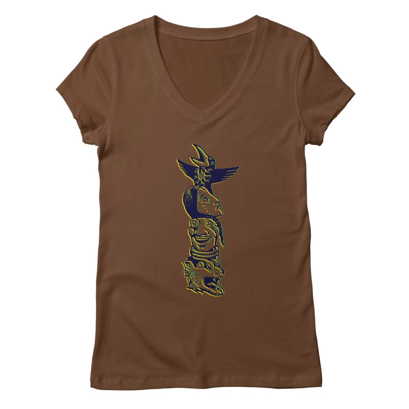 Obvio Totem  Women's V-Neck by truthpup's Artist Shop