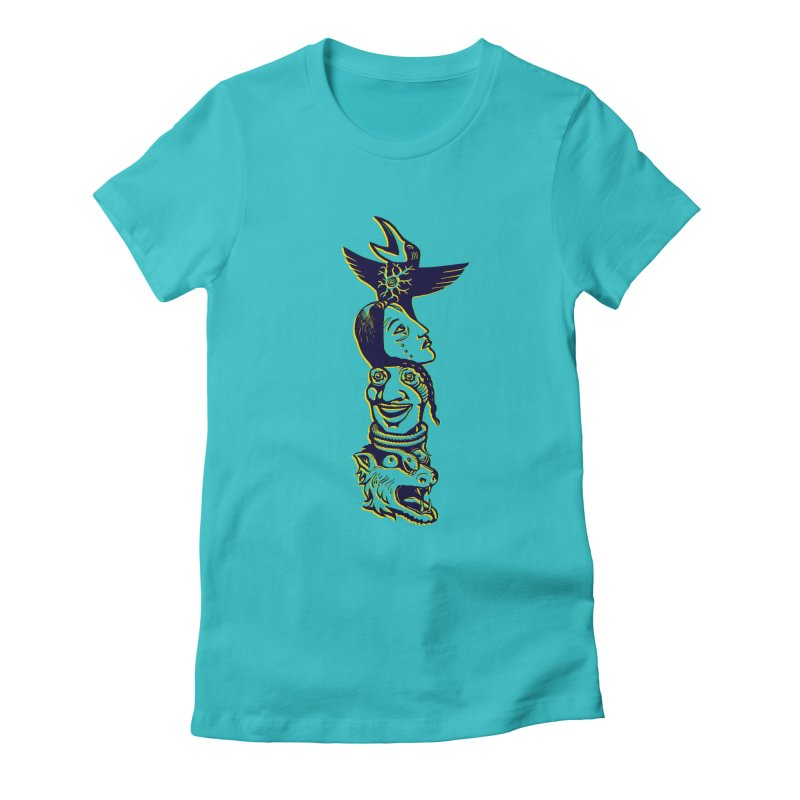 Totem 1 Women's Fitted T-Shirt by truthpup's Artist Shop