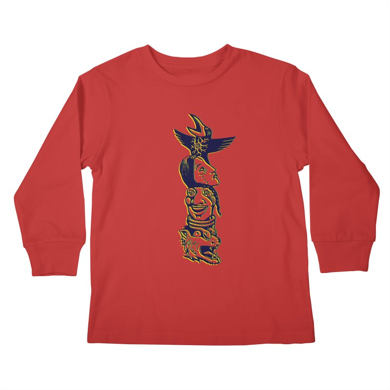 Obvio Totem  Kids Longsleeve T-Shirt by truthpup's Artist Shop