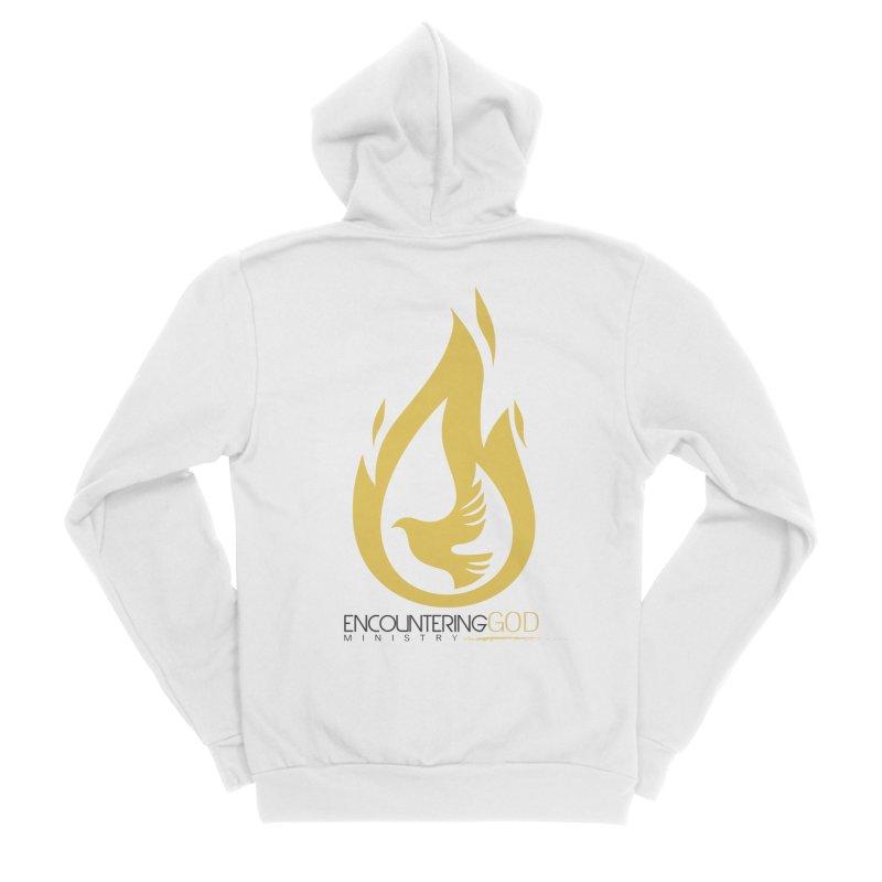 Holy Spirit Fire Tee Men's Sponge Fleece Zip-Up Hoody by TruthSeekah Clothing