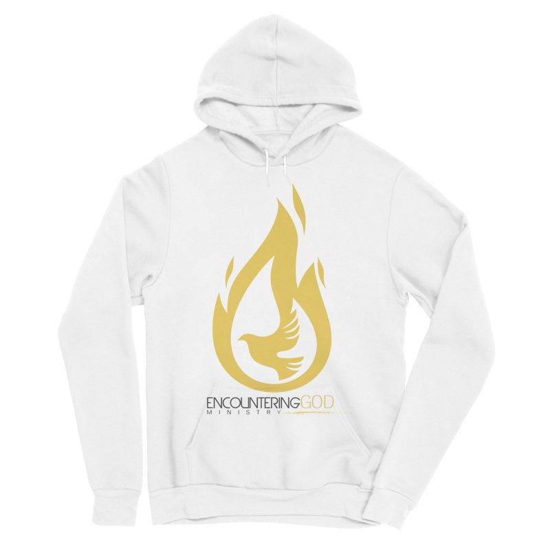 Holy Spirit Fire Tee Men's Sponge Fleece Pullover Hoody by TruthSeekah Clothing