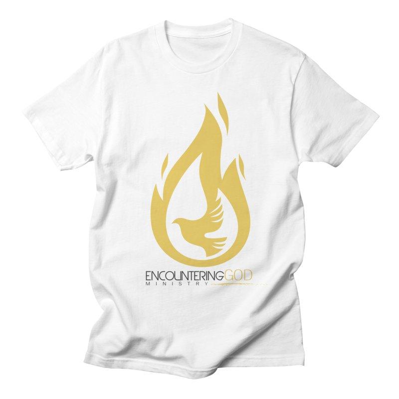 Holy Spirit Fire Tee Men's Regular T-Shirt by TruthSeekah Clothing