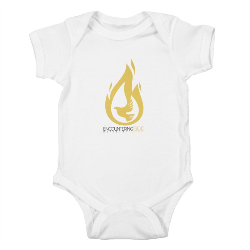 Holy Spirit Fire Tee Kids Baby Bodysuit by TruthSeekah Clothing