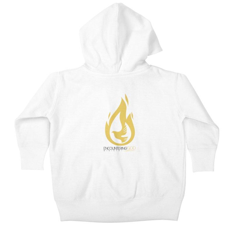 Holy Spirit Fire Tee Kids Baby Zip-Up Hoody by TruthSeekah Clothing