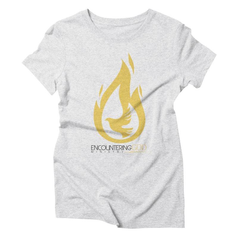 Holy Spirit Fire Tee Women's Triblend T-Shirt by TruthSeekah Clothing