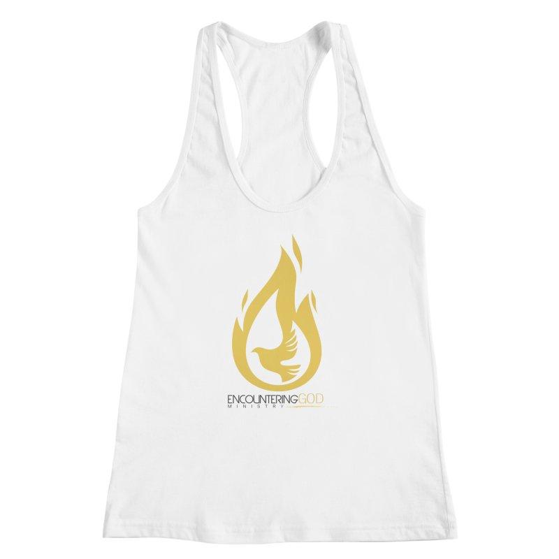 Holy Spirit Fire Tee Women's Racerback Tank by TruthSeekah Clothing