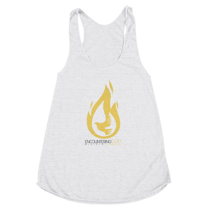 Holy Spirit Fire Tee Women's Racerback Triblend Tank by TruthSeekah Clothing