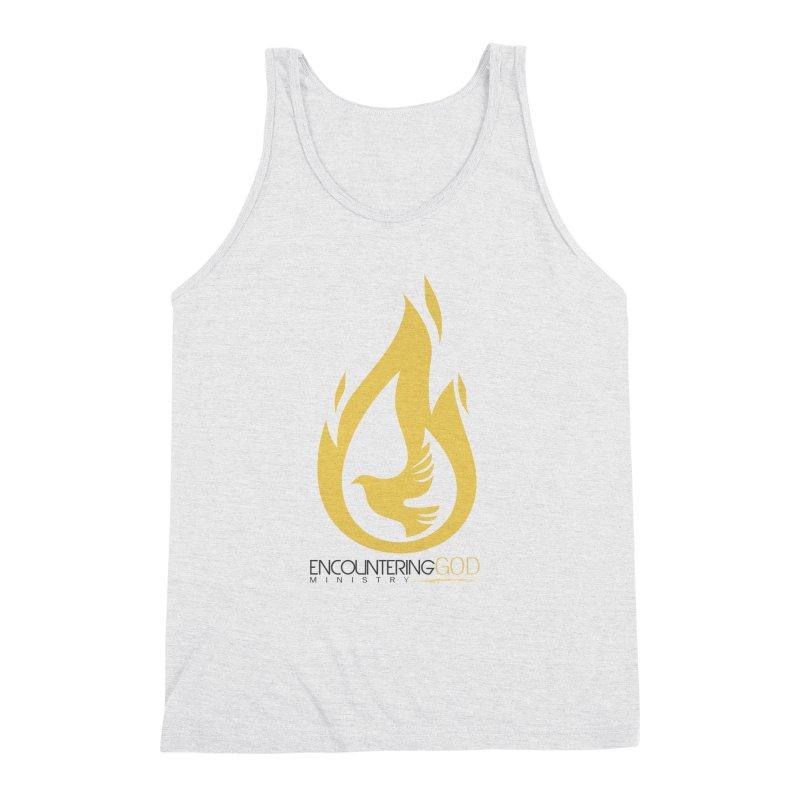 Holy Spirit Fire Tee Men's Triblend Tank by TruthSeekah Clothing