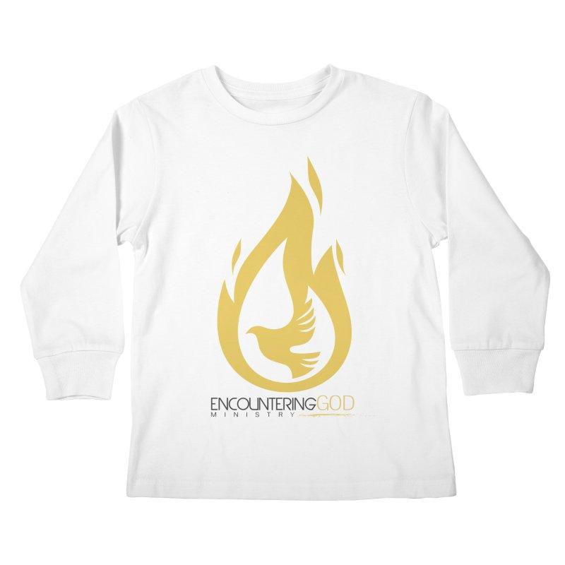 Holy Spirit Fire Tee Kids Longsleeve T-Shirt by TruthSeekah Clothing
