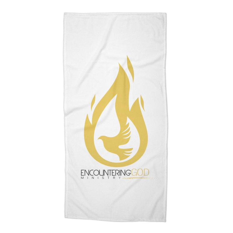Holy Spirit Fire Tee Accessories Beach Towel by TruthSeekah Clothing