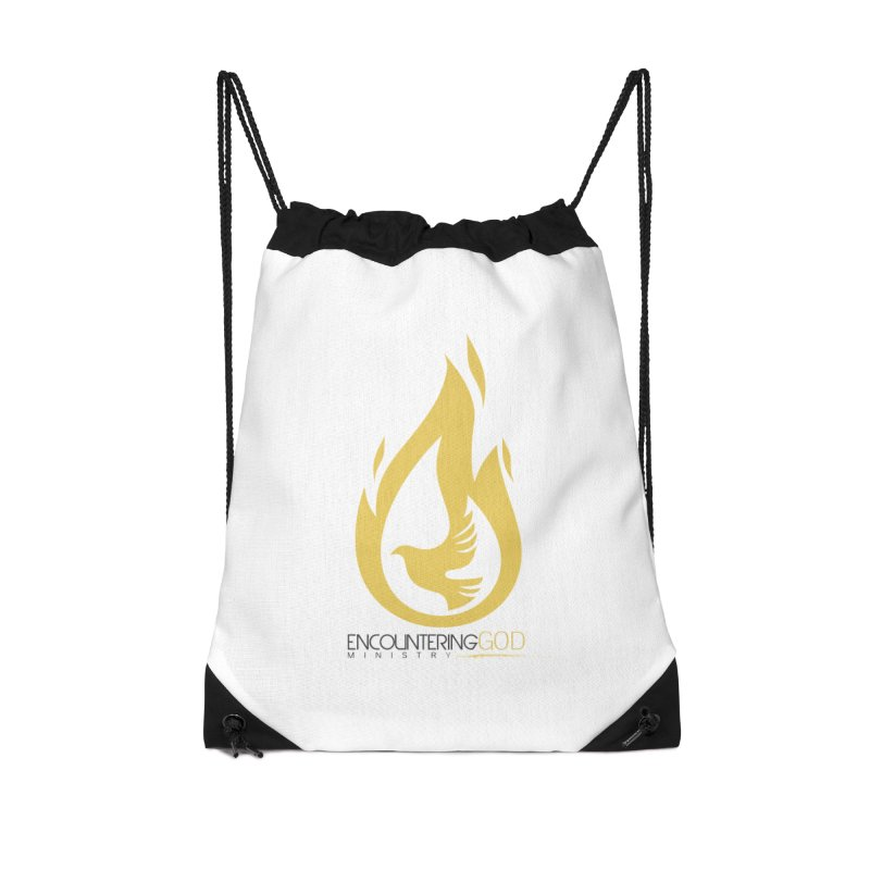 Holy Spirit Fire Tee Accessories Drawstring Bag Bag by TruthSeekah Clothing