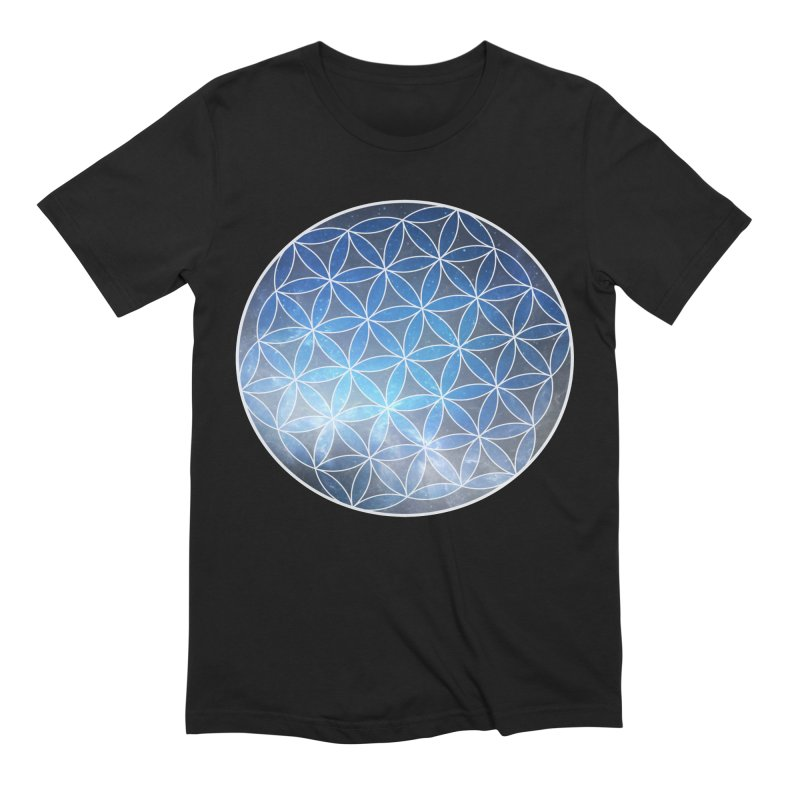 Flower Of Life | Sacred Geometry Tee Men's Extra Soft T-Shirt by TruthSeekah Clothing