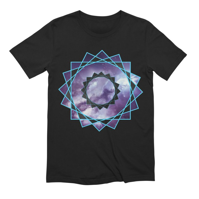 Hexakaidecagon Spiral | Sacred Geometry Tee Men's Extra Soft T-Shirt by TruthSeekah Clothing