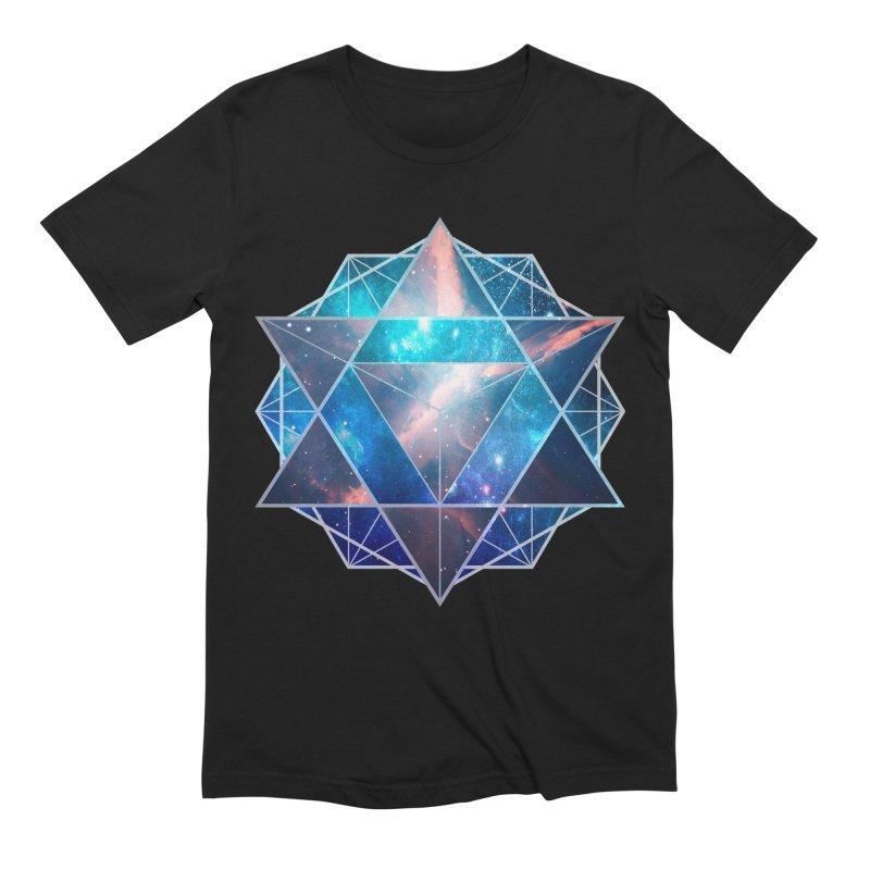 Merkaba | Sacred Geometry Tee Men's Extra Soft T-Shirt by TruthSeekah Clothing