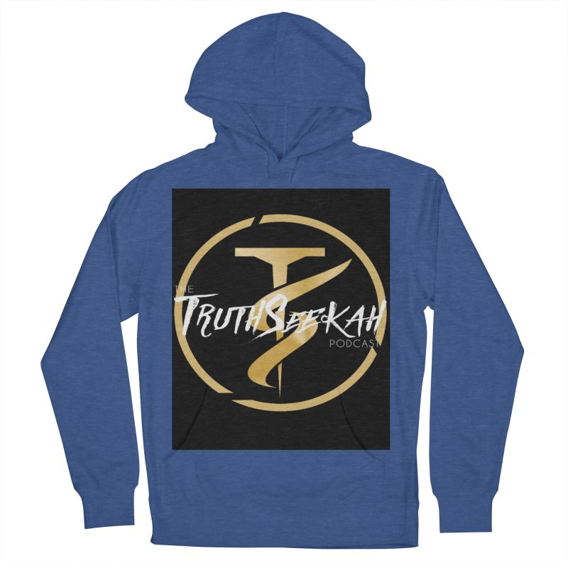 The TruthSeekah Podcast Men's French Terry Pullover Hoody by TruthSeekah Clothing