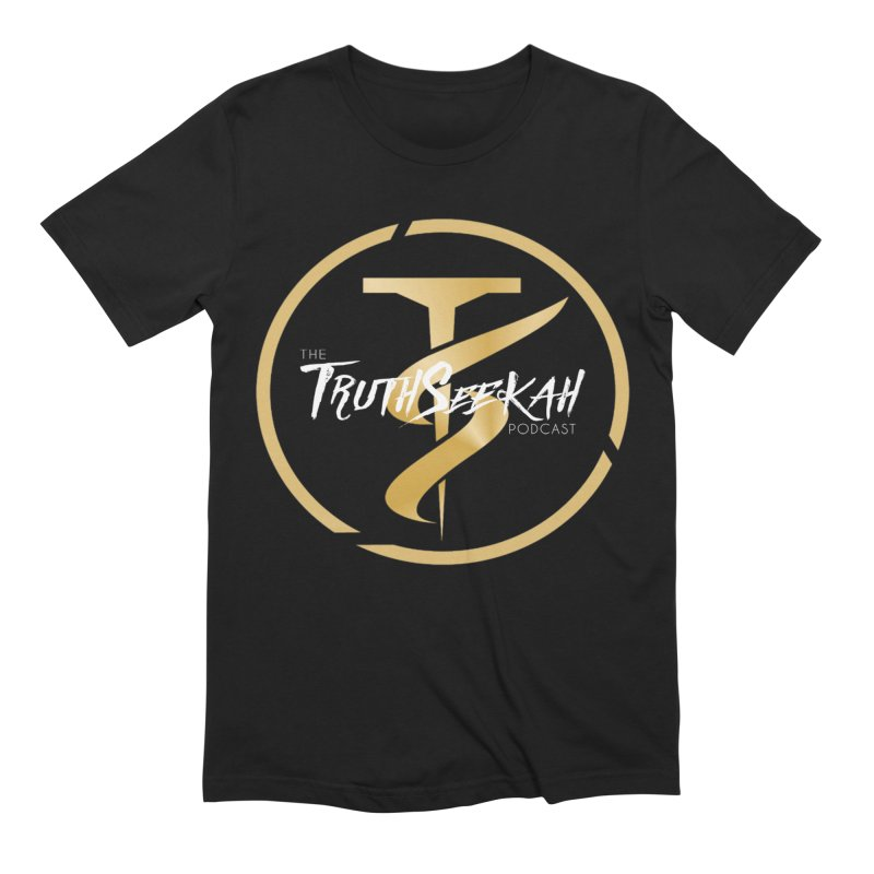The TruthSeekah Podcast Men's Extra Soft T-Shirt by TruthSeekah Clothing