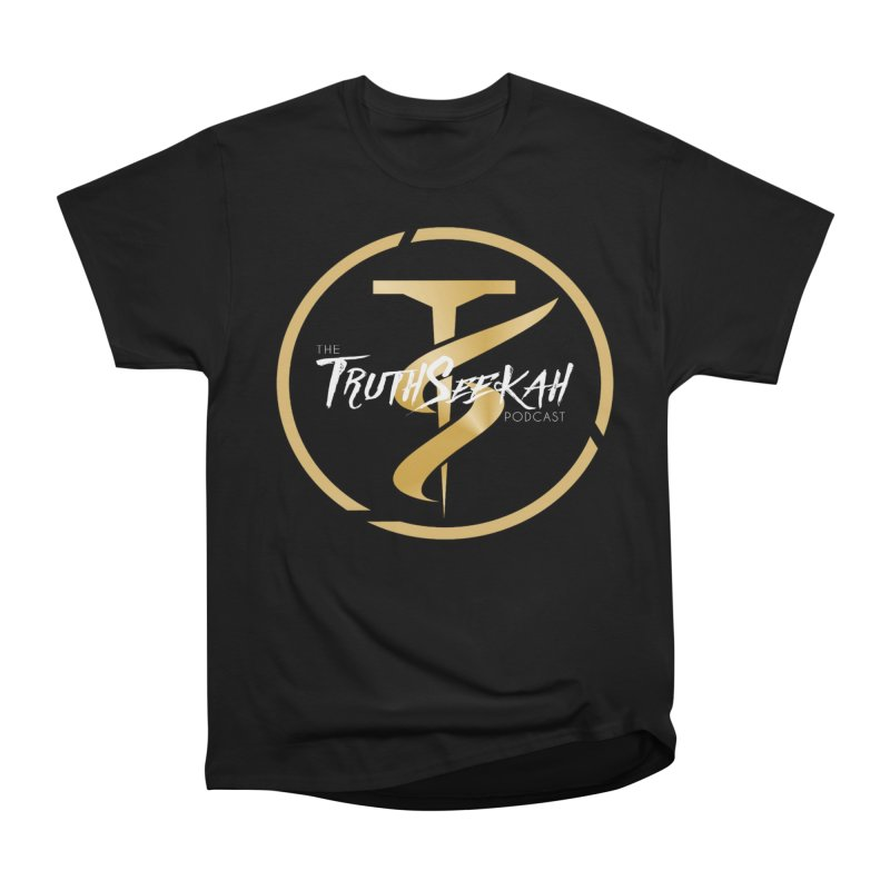 The TruthSeekah Podcast in Men's Classic T-Shirt Black by TruthSeekah Clothing