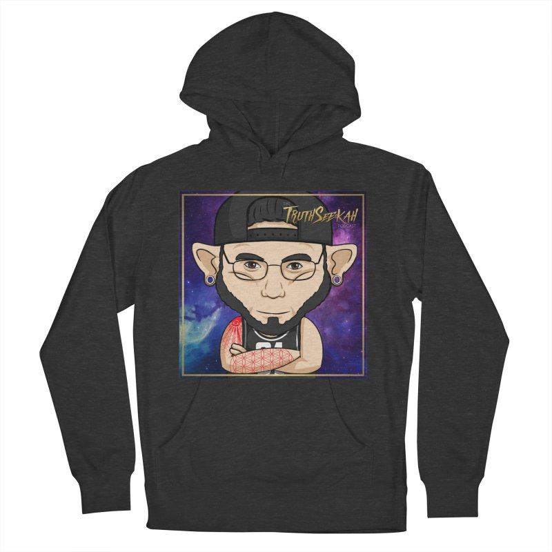 TruthSeekah Toon Tee Men's French Terry Pullover Hoody by TruthSeekah Clothing