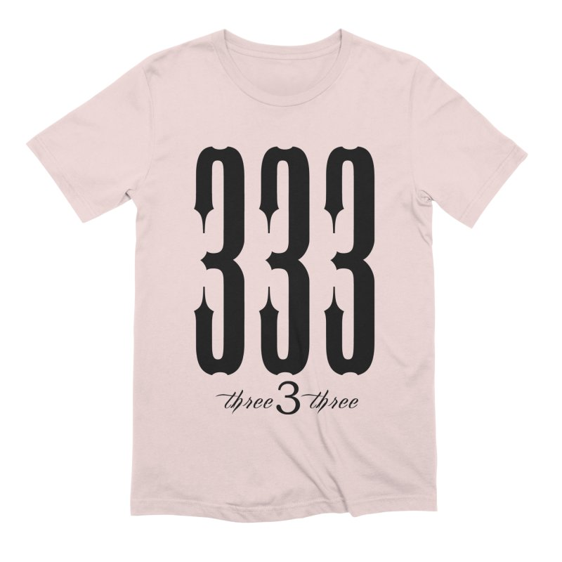 333 Black Letters Men's Extra Soft T-Shirt by TruthSeekah Clothing