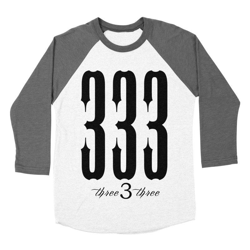 333 Black Letters Men's Baseball Triblend Longsleeve T-Shirt by TruthSeekah Clothing