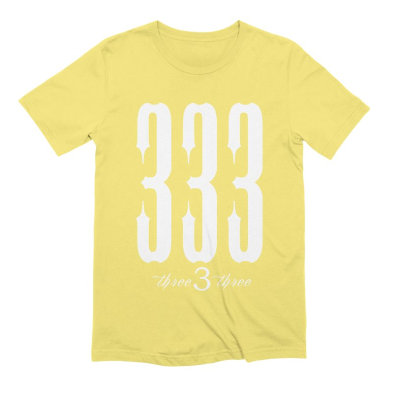 333 White Letters Men's Extra Soft T-Shirt by TruthSeekah Clothing
