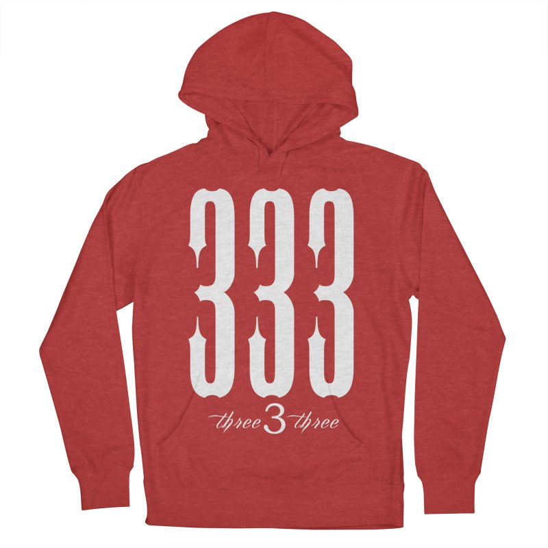 333 White Letters Men's French Terry Pullover Hoody by TruthSeekah Clothing